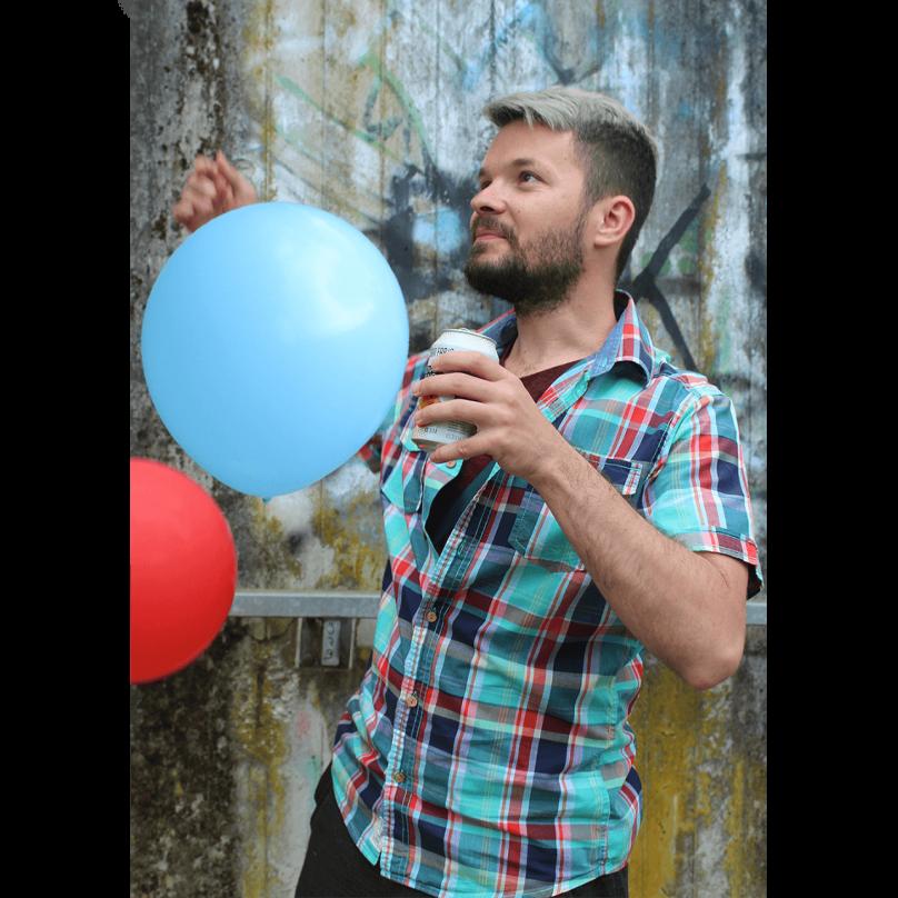 Sărbătorind cu baloane în Stuttgart